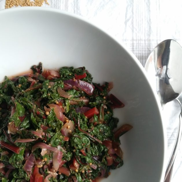 Swiss Chard with Mustard Seeds
