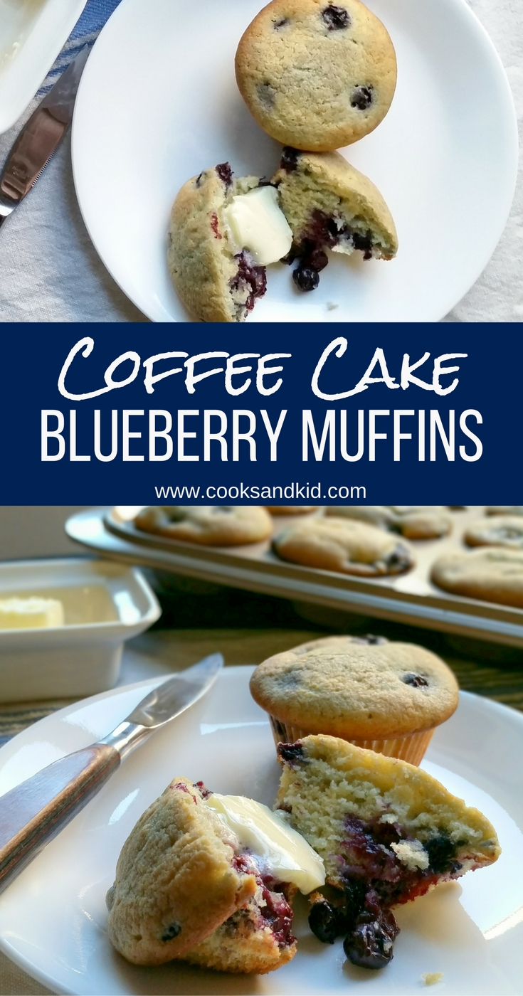 Blueberry Coffee Cake Muffins - Recipe by Cooks and Kid