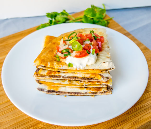 Cumin Black Bean and Cheese Quesadillas