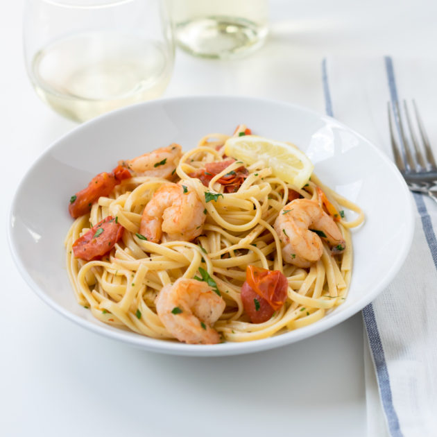 Linguine with Shrimp and Tomatoes