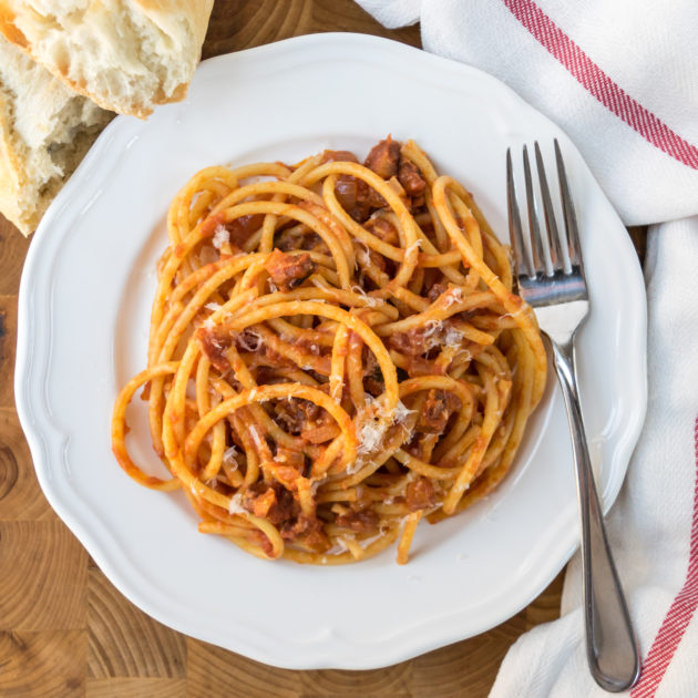 Bucatini with Amatriciana