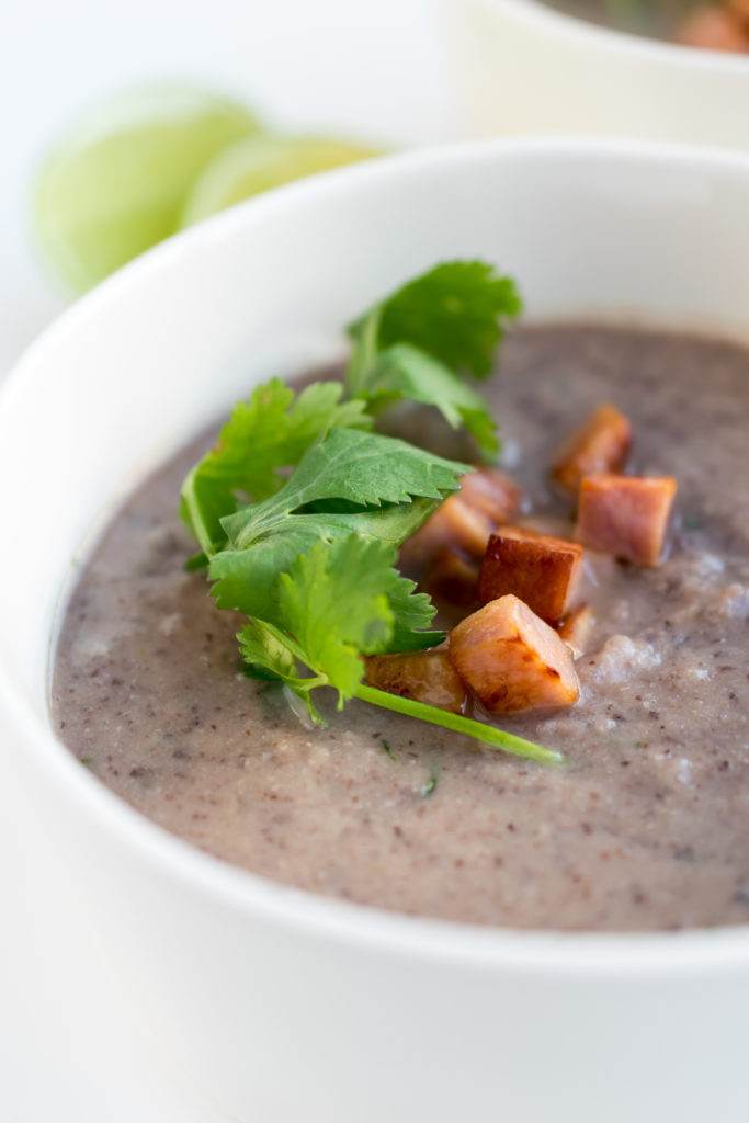 Black Bean and Cauliflower Soup