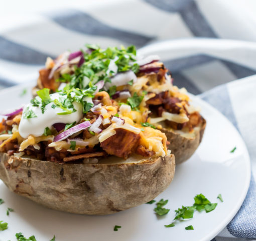 Loaded BBQ Chicken Baked Potatoes