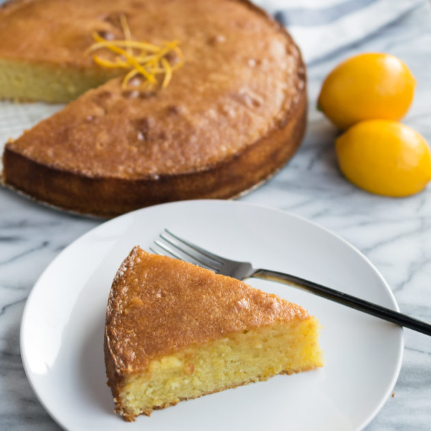 Meyer Lemon Almond Flour Cake