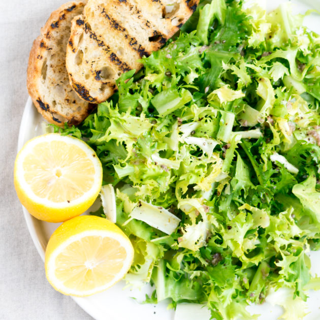 Frisée with Anchovy Vinaigrette