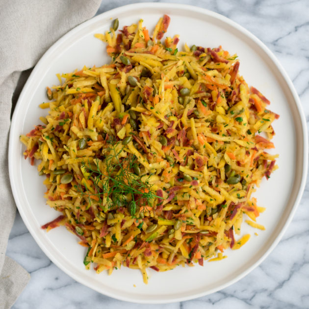 Grated Carrot Salad with Pumpkin Seeds