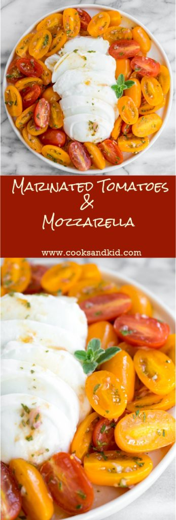 marinated tomatoes and mozzarella