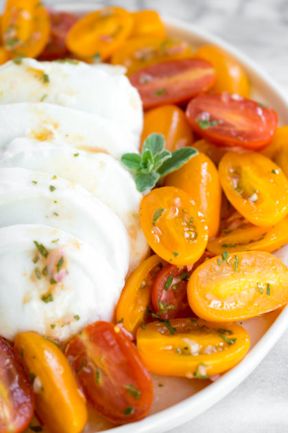 Marinated Tomatoes with Mozzarella