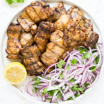 Chicken Shawarma with Red Onions and Cilantro