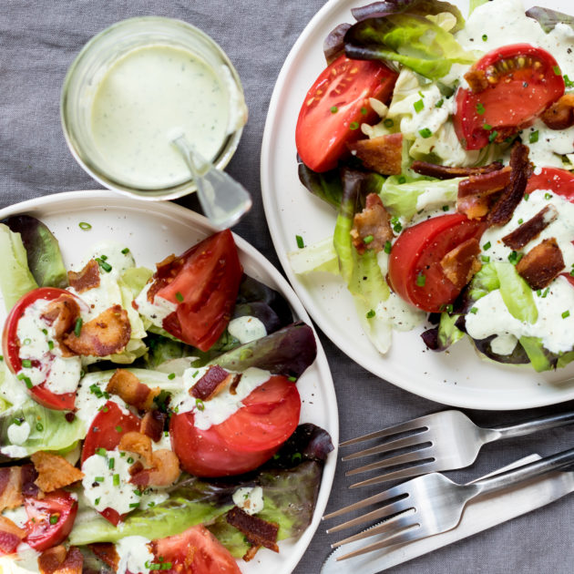 BLT Salad with Green Goddess Dressing