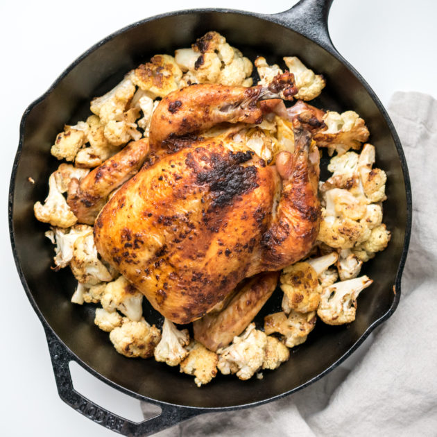 Harissa Roast Chicken and Cauliflower