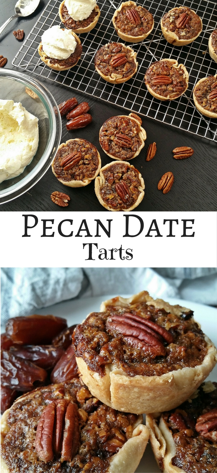 Pecan Date Tarts - Recipe by Cooks and Kid