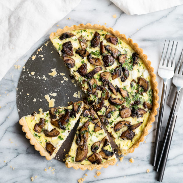 Crimini Mushroom and Goat Cheese Tart