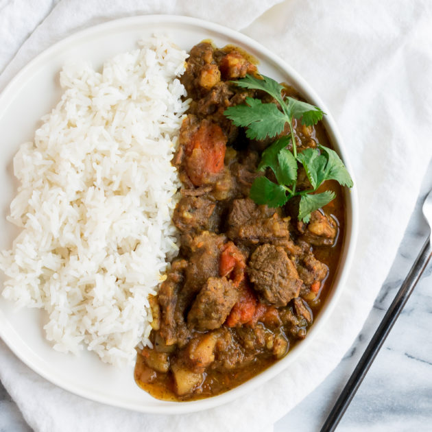 Instant Pot Curry Beef Stew