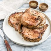 Fennel and Coriander Brined Pork Chops