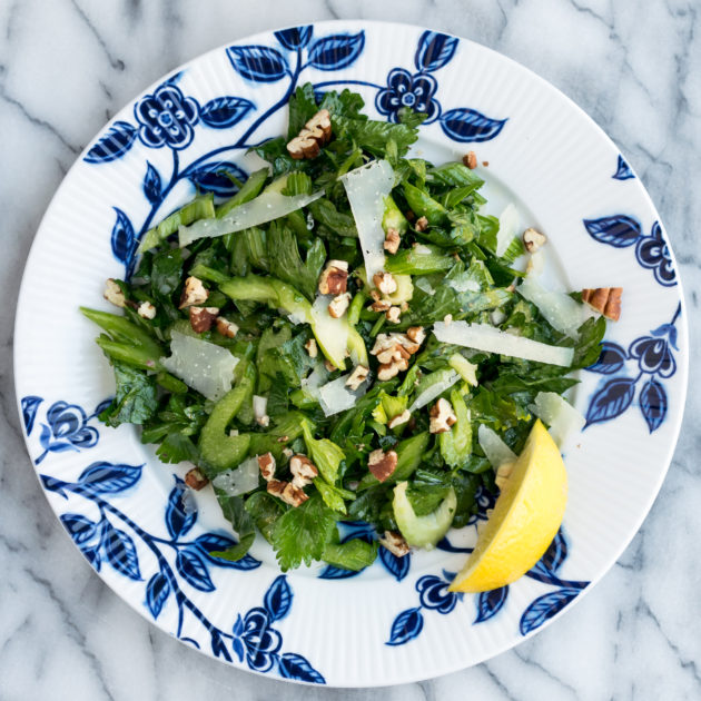 Celery Salad with Pecans and Pecorino