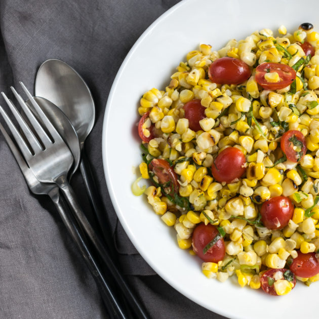 Grilled Corn, Tomato and Jalapeno Salad