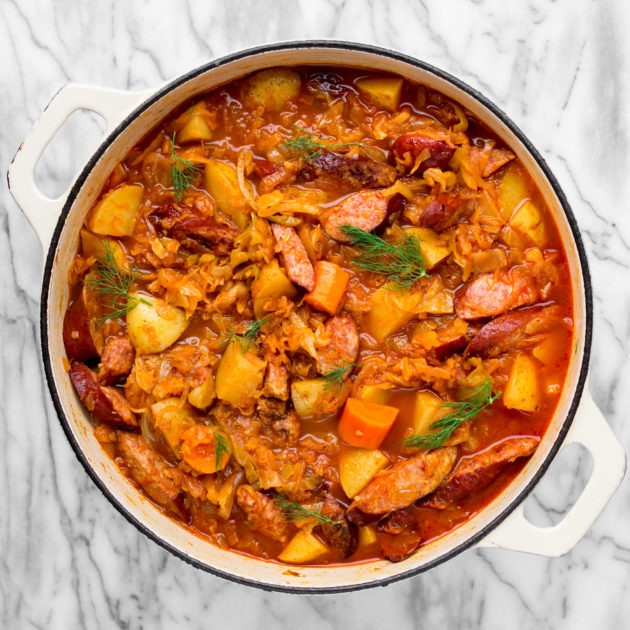 Kielbasa, Cabbage and Potato Stew